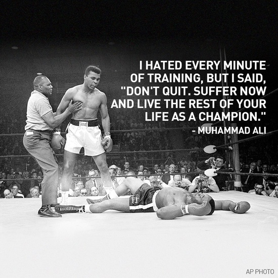 M Ali quote and picture